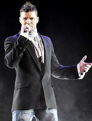 Foto de Ricky Martin en el escenario