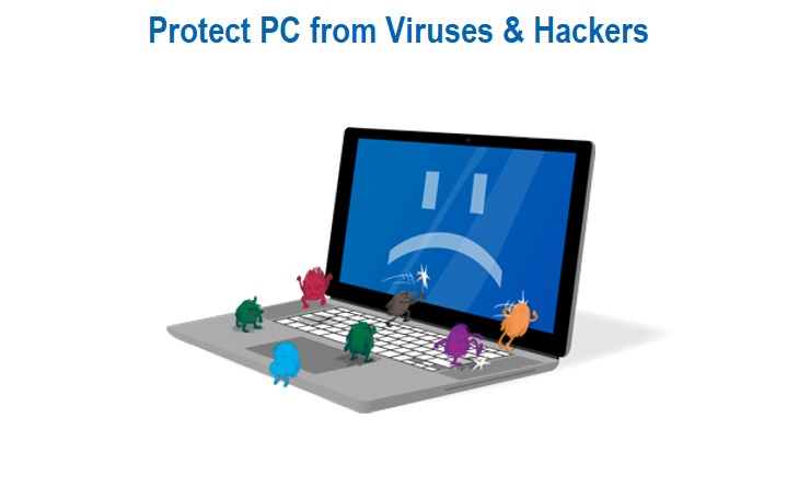 Protect Computer from Viruses and Hackers