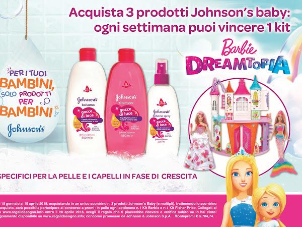 VINCI IL MAGICO MONDO DI BARBIE DREAMTOPIA CON I PRODOTTI JOHNSON'S BABY