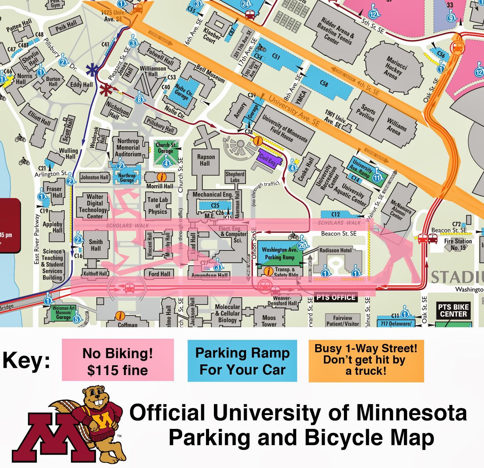 U Of Minnesota Map.Twin City Sidewalks U Of Mn S Top 3 Bike Planning Mistakes
