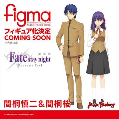 Figma Shinji e Sakura Matou de Fate/Stay Night