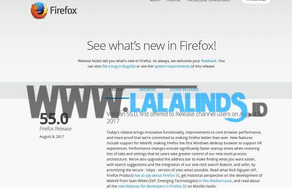 Download Mozilla Firefox 55.0 Offline Installer Terbaru