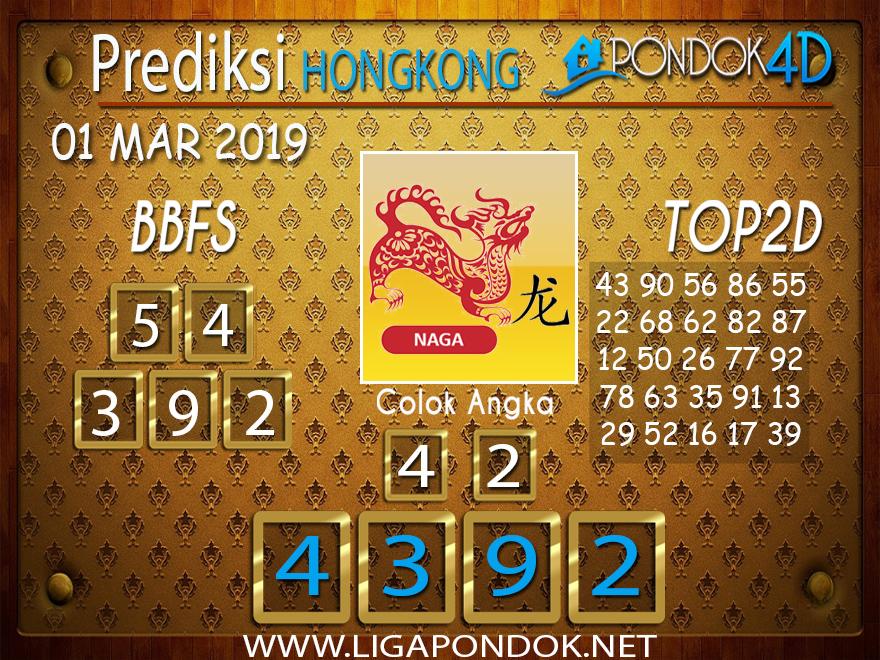 Prediksi Togel HONGKONG PONDOK4D 01 MARET 2019