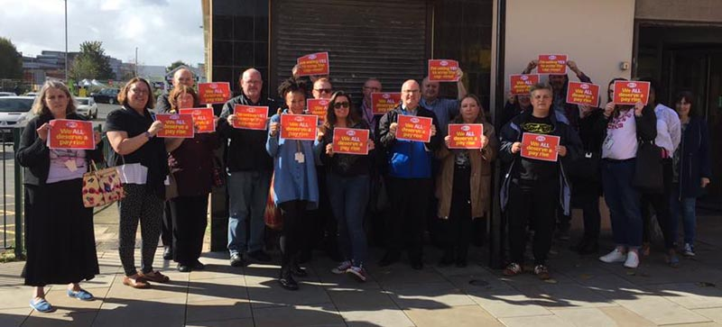 PCS members demand a pay rise at last