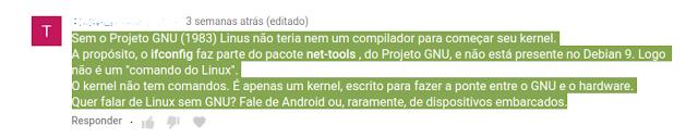 ifconfig faz parte do pacote net-tools do... projeto GNU? Algo errado não está certo.