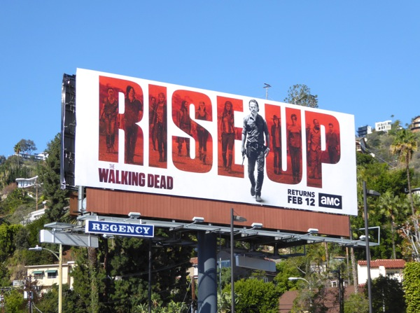 Walking Dead midseason 7 Rise Up billboard