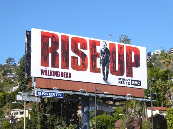 Walking Dead midseason 7 Rise Up billboard