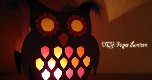 My Owl Barn Diy Owl Lantern With Template