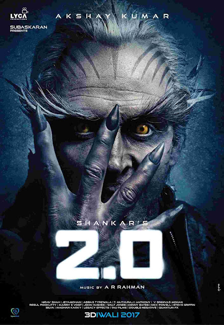Akshay kumar 2.0 first look rajinikanth