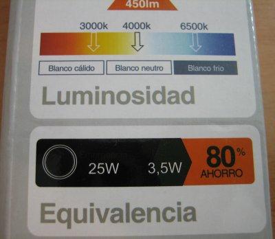 Luz de emergencia Led EMERLUX F310 Blanco frío