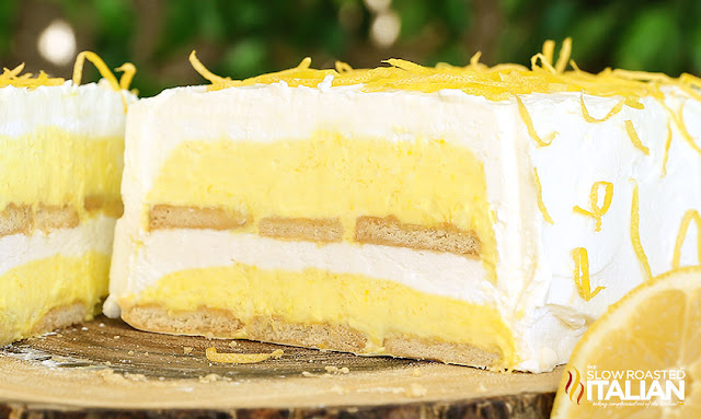Lemon Cloud No-Bake Ice Box Cake