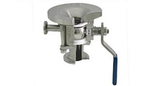 two-way sanitary tank drain valve cutaway view