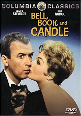 Bell Book and Candle, starring James Stewart, Kim Novak, and Pyewacket the cat
