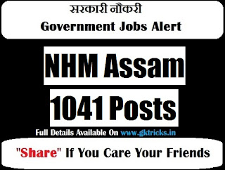 NHM Assam 1041 Posts