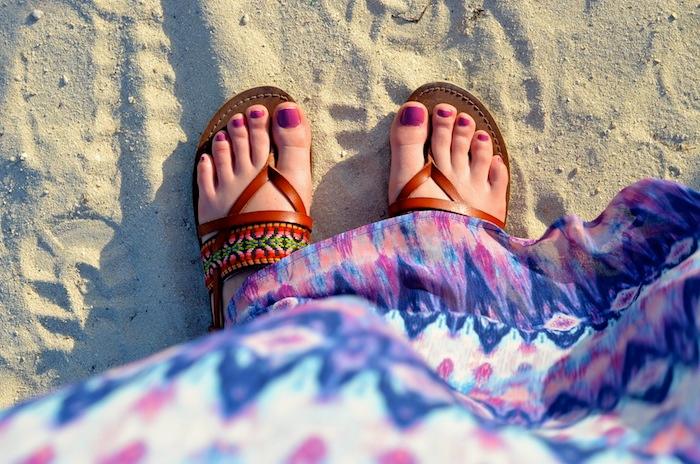 Target Aztec-printed sandals