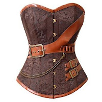 Steampunk Brown Overbust Corset