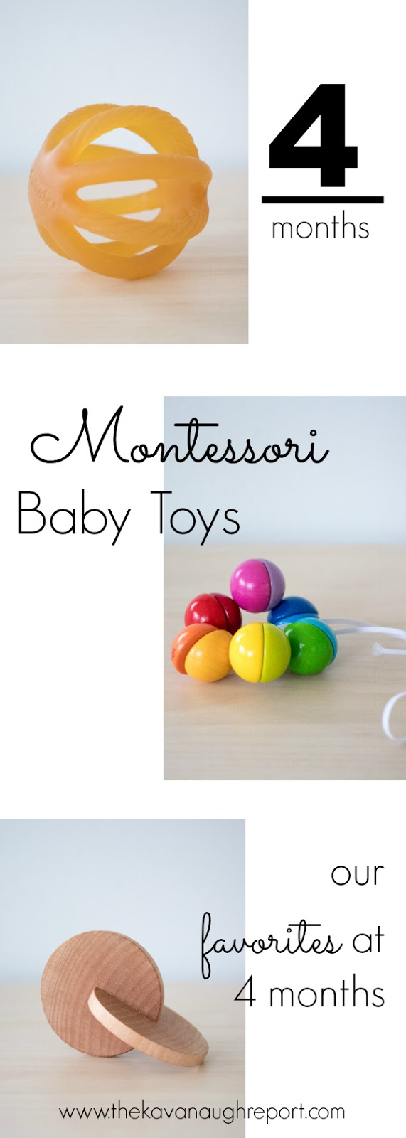 4 Month Baby Toys : Montessori friendly baby toys at months