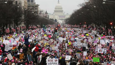 Lebih 1 Juta Wanita di AS dan Belahan Dunia Turun Jalan Anti Trump
