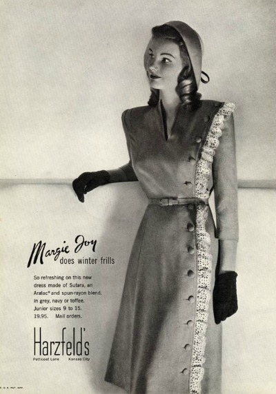Harzfeld's Ad for Margie Joy Dress