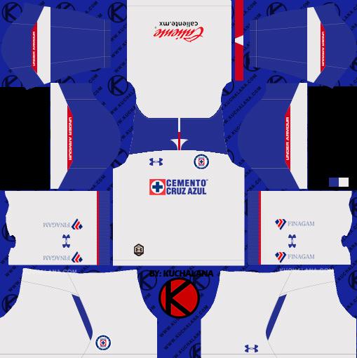 fbf9dcc7a Cruz Azul 2018 19 Kit - Dream League Soccer Kits - Kuchalana