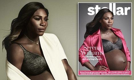 Serena Williams Reveal Baby Bump In Photoshoot For Stellar Magazine