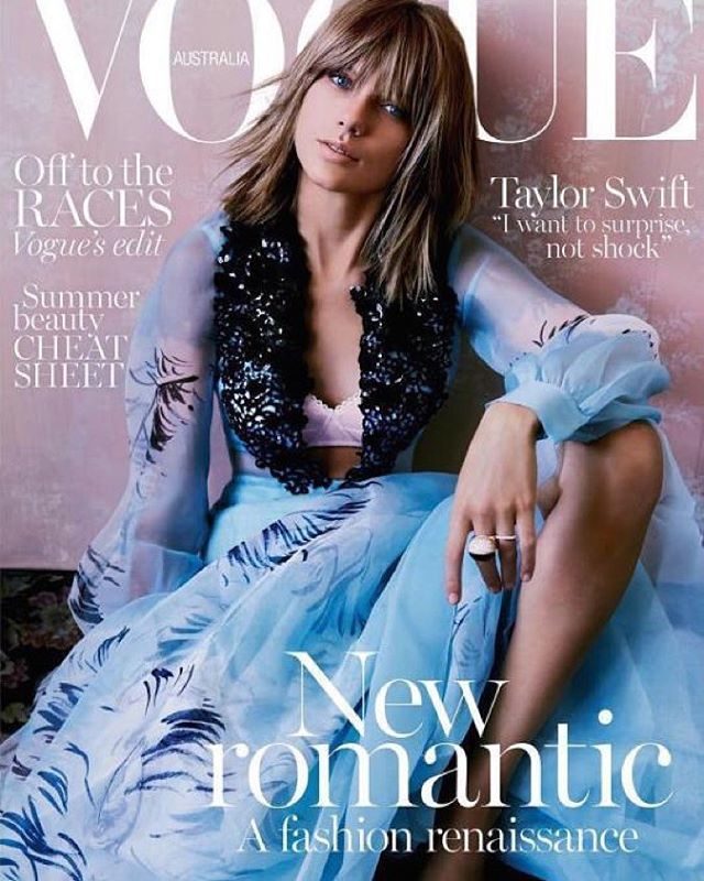 Taylor Swift: crisp and machined for Vogue Australia