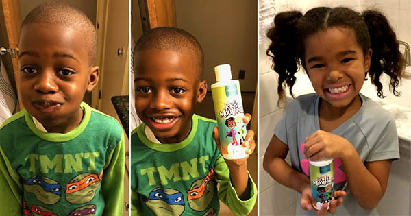 Children using Garner's Garden Kids Mouthwash and Tooth Powder