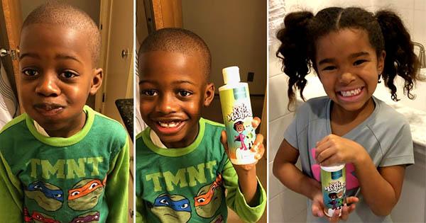 Children using Garner's Garden Kids Mouthwash and Tooth Powder
