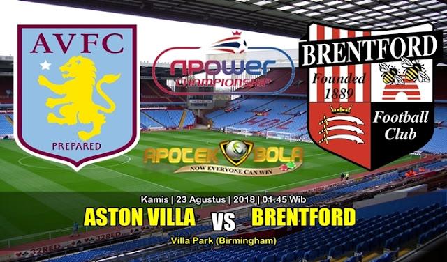 Prediksi Aston Villa Vs Brentford 23 Agustus 2018
