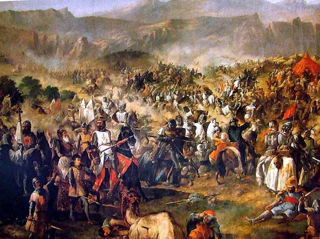 Nunca lutaram dois exércitos tão grandes na longa guerra da Reconquista