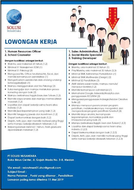 Lowker SMK & S1 Medan Mei 2019