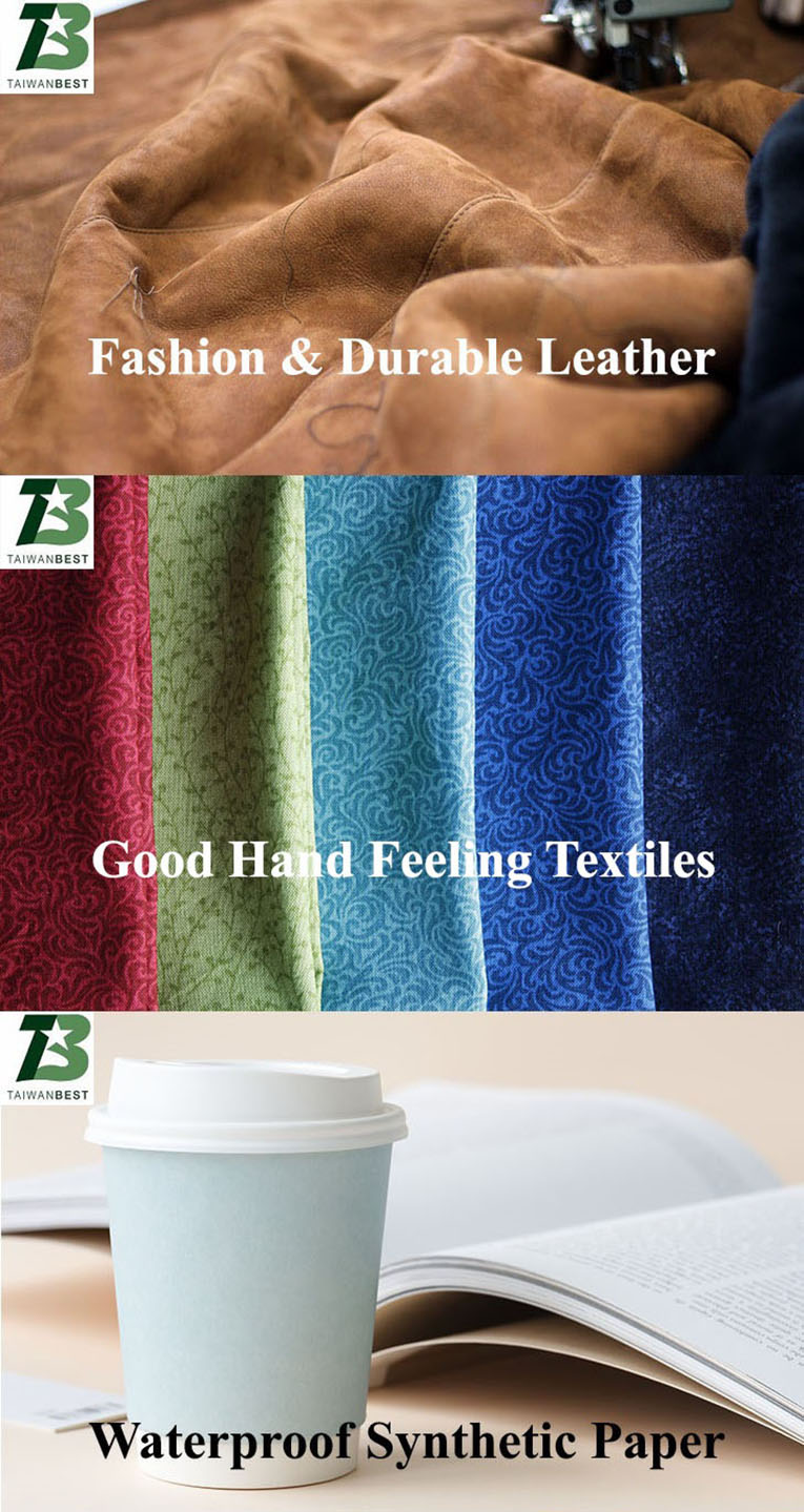 durable leather, hand feeling textiles, waterproof synthetic paper