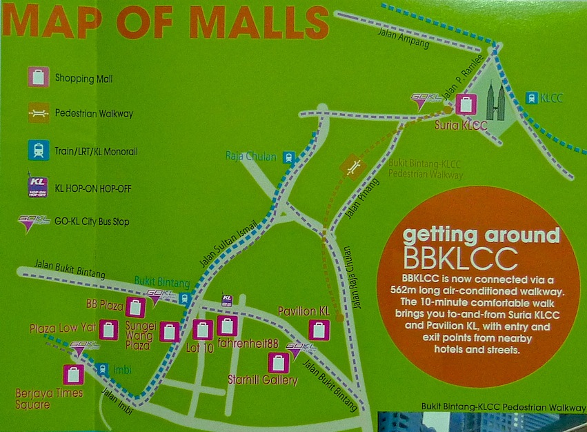 My Very First Blog Walking The KLCC Bukit Bintang Pedestrian Walkway