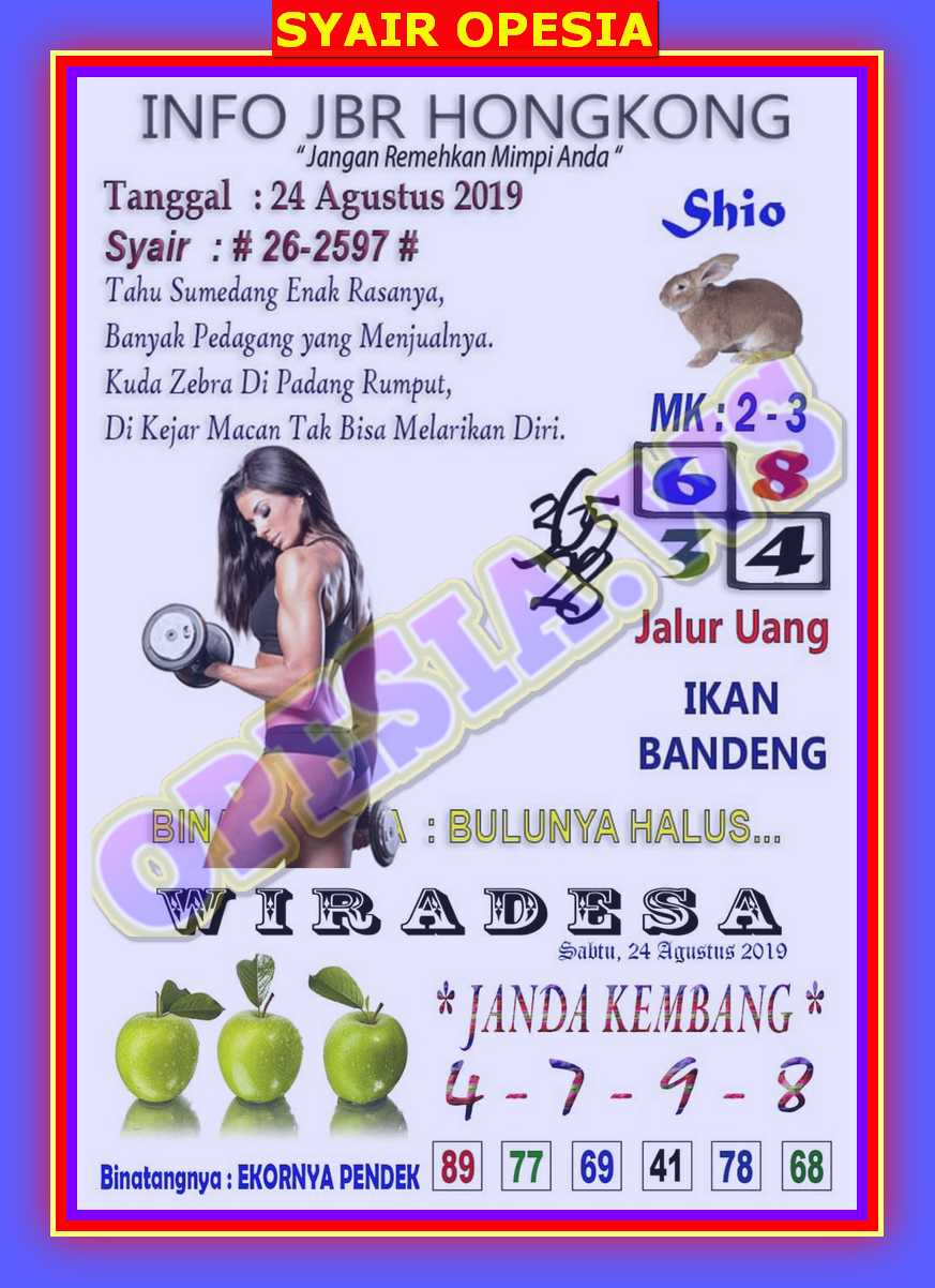 14 Syair batik hk 24 agustus 2020 terupdate