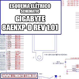 Esquema Elétrico Placa Mãe GIGABYTE 8AENXP D - REV 1.01 Motherboard Manual de Serviço  Service Manual schematic Diagram Placa Mãe GIGABYTE 8AENXP D - REV 1.01 Motherboard      Esquematico Placa Mãe GIGABYTE 8AENXP D - REV 1.01 Motherboard