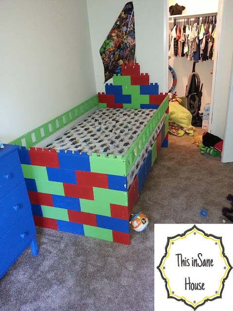 This Insane House Lego Bed Frame