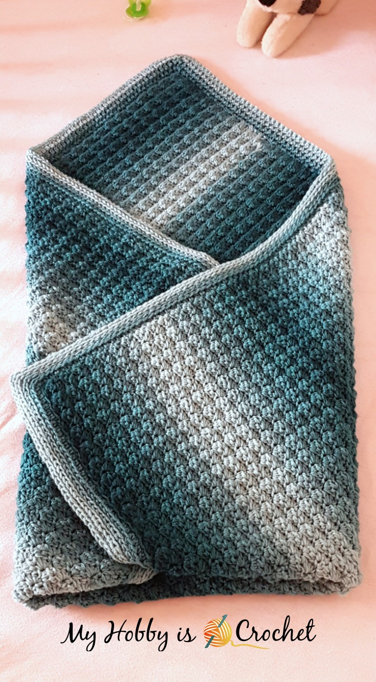 My Hobby Is Crochet: Fabians Ombre Baby Blanket - Free ...