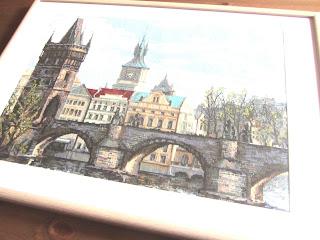Прага Карлов мост вышивка