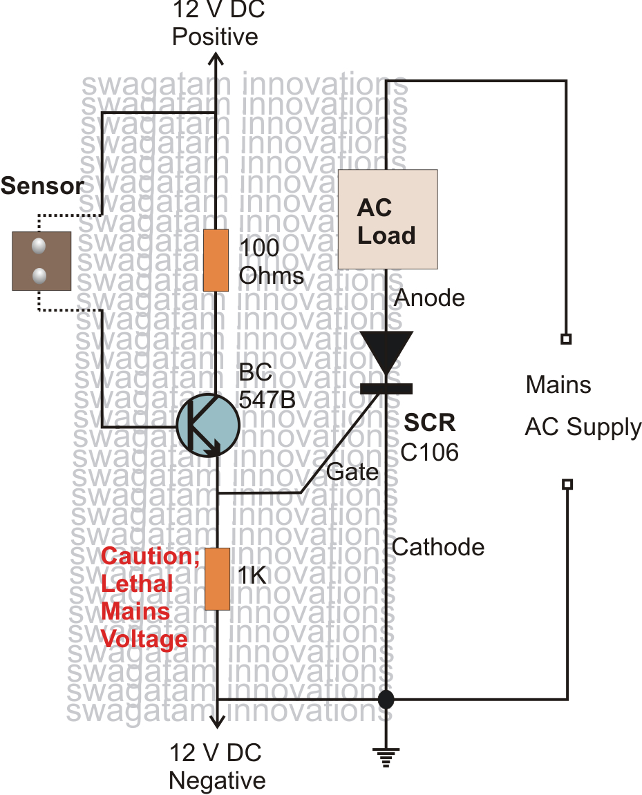 How To Make Simple Scr Application on burglar alarm circuit diagram