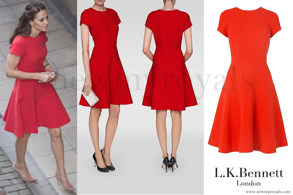 Kate Middleton wore L.K.Bennett Eugenia Skirted Dress