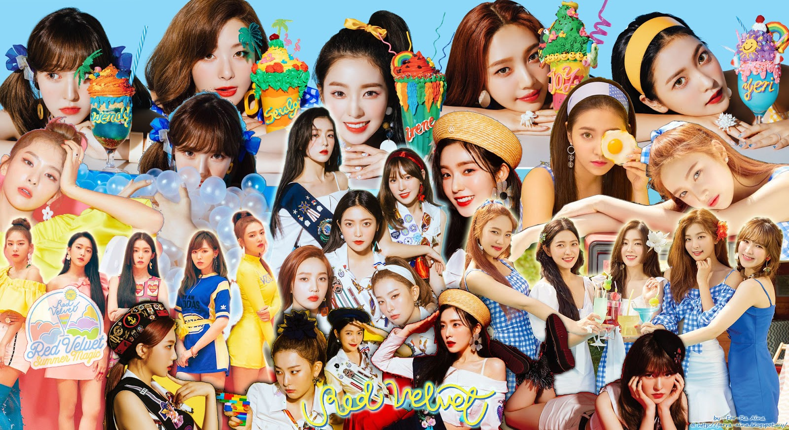 K Pop Lover Red Velvet Summer Magic Wallpaper