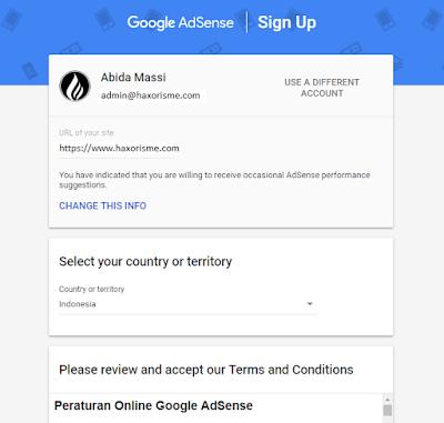 Mendaftarkan Situs Pada Adsense Non Hosted