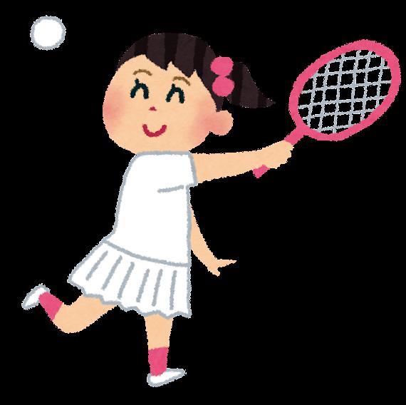 ソフトテニス イラスト