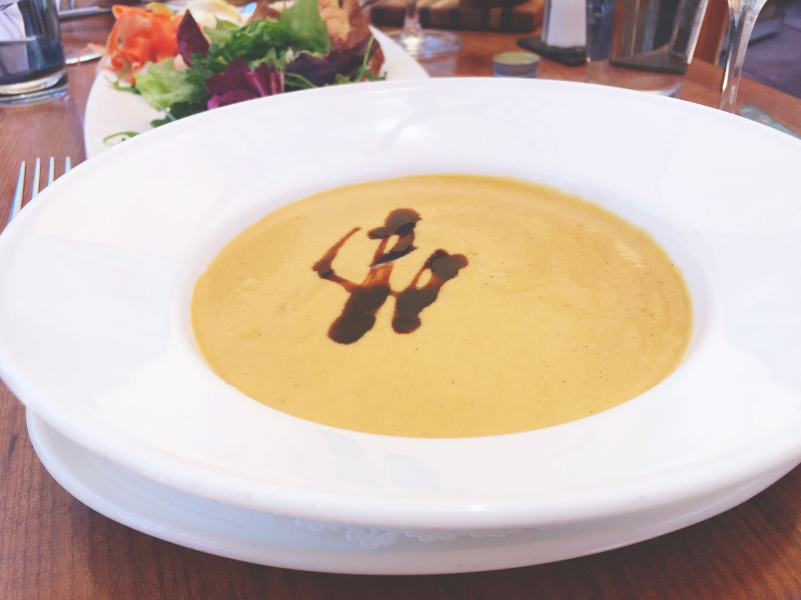 chilled carrot soup at The Girl and the Fig - A restaurant in Sonoma, California