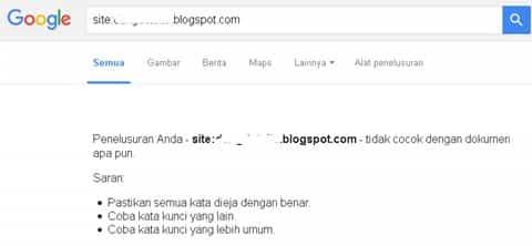 Blog Deindex atau hilang di mesin pencari terutama Google