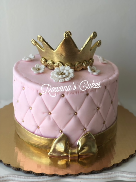 Pleasant Baking With Roxanas Cakes Princess Themed Birthday Cake Personalised Birthday Cards Veneteletsinfo