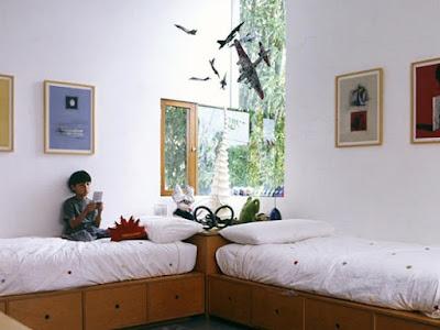 Contoh desain kamar tidur untuk anak kembar