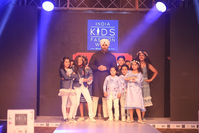 Day-2,Punjabi Pop Singer walked the ramp at India Kids Fashion Week