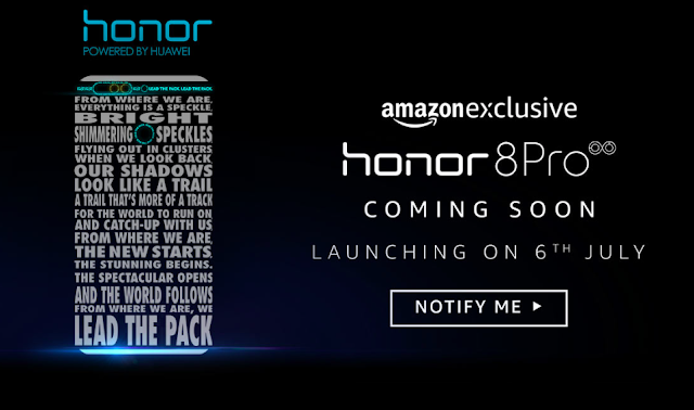 Huawei will launch Honor 8 Pro exclusively on Amazon India from 6th July