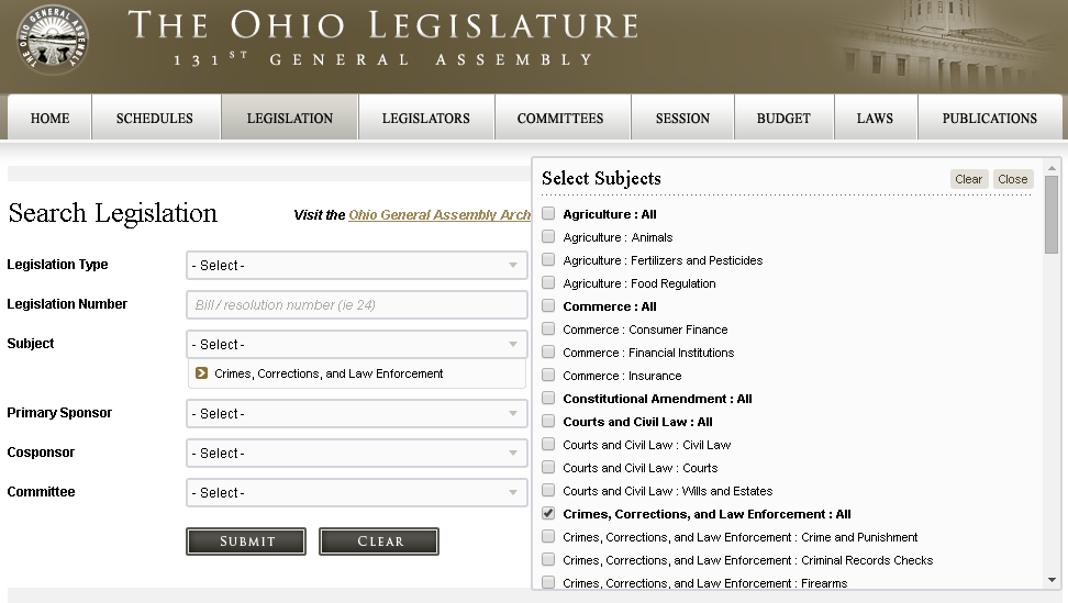 Ohio bill on sex offenders